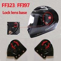 ls2 kask lens toptan satış-Orijinal LS2 FF323 / 397 karbon fiber motosiklet kask mercek LS2 FF323 FF397 lokomotif kask tabanı için 1 çift uygun bağlar