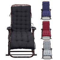 cadeira reclinável venda por atacado-100% Poliéster Lounge Chair Cushion dobrável Thicken confortável plataforma macia do assento Mat Padding Outdoor Patio Piscina reclinável Almofadas