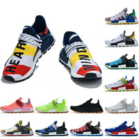 Wholesale lighted afro for sale - Group buy Pharrell Williams NMD Human Race Shoes Women Mens Running Shoes BBC Solar Pack Afro Pack M Reflective Human Races Designer Sneakers Size