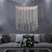 ingrosso stanza della boemia-Tappezzeria a maglia Tassel Tapestel Macrame Boemia Boho Chic home room Decor Vintage Tessuto uncinetto Arazzo AAA1754