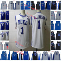 6555315332b Mens Round neck Duke Blue Devils RJ. Barrett Basketball Jersey NCAA #5 R.  J. Barrett #2 Cameron Reddish #1 Zion Williamson Duke Jersey S-3X