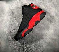 3m karbon fiber toptan satış-13 s bred kutu ile erkekler basketbol ayakkabı gerçek karbon fiber 3 M Yansıtıcı en kaliteli 13 s sneaker spor ayakkabı ücretsiz kargo