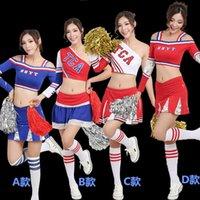 ingrosso costumi halloween high school-2017 estate High School Girls Cheerleading Costume senza maniche Cheerleader Uniforme Sportwear Lady Halloween Fancy Costume