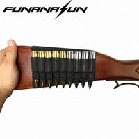 caza de escopeta al por mayor-Tacitcal Escopeta Rifle 9 asaltos Bullet Holder Stock Shell Pouch Caza militar Escopeta Munición Cartucho Negro # 85698