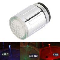 ingrosso luce di bagliore blu-Sensore di temperatura LED Light Water Faucet Tap Glow Shower Cucina Bagno RGB / Multi Colore / Blu Peso leggero