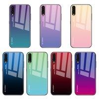 huawei honor para la venta al por mayor-Venta caliente Huawei P Smart 2019 P20 Pro Lite Mate 20 Nova 3i Honor V20 10 8X Magic 2 caja de cristal del teléfono del gradiente de la cubierta colorida