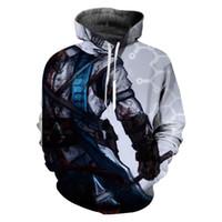 jersey de asesinos al por mayor-2019 Venta Caliente Assassins Creed 3D Imprimir Sudaderas Con Capucha Ropa Casual de Manga Larga Novedad Streetwear Sudadera Con Capucha Hombres Pullover