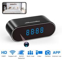 Wholesale motion detection clocks resale online - Yikacam Clock Mini Camera P HD micro espia wifi camera Security Night Vision Motion Detection wifi Secret Camera