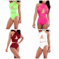 ingrosso signora calda della cassa-Wrap Chest Big Code Bikini Set Halter Pure Colour Swimwear da donna Summer Beach Fashion Costume da bagno Confortevole Vendita calda 13mc I1