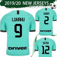 ingrosso uniformi di calcio milano-Maglia da calcio Inter Away taglia S-4XL 2019/20 # 9 LUKAKU # 10 LAUTARO # 37 SKRINIAR # 44 PERISIC Maglia da calcio 2020 Milan Uniforms