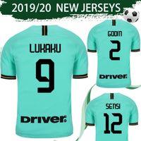 uniformes de futbol de milan al por mayor-Talla S-4XL Camiseta de fútbol interway 2019/20 # 9 LUKAKU # 10 LAUTARO # 37 SKRINIAR # 44 PERISIC Camiseta de fútbol 2020 Milan Uniformes de fútbol