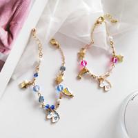 ingrosso moda coreana giapponese donne-Summer Fashion Accessori per gioielli giapponesi e coreani dei cartoni animati Bella ragazza donne in rilievo creativo bracciale in unicorno stelle