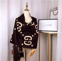 bufandas coreanas para mujeres al por mayor-2019 otoño e invierno la nueva venta caliente de la versión coreana de lana alfabeto hombres chal mezclado y amantes de la bufanda de las mujeres 3colors.