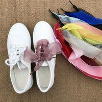 sinto falta de sapatos venda por atacado-MISS M 1Pair Lace Shoestring Mulheres 4CM Belt Fitas Soft Wide Shoe Decorações