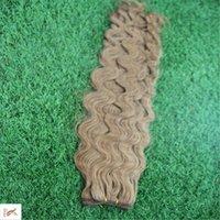 insan saçı brazilian örgü kahverengi toptan satış-Orta Kahverengi Renk 10-30 Inç Brezilyalı Saç Örgü Demetleri 6a Işlenmemiş Vücut Dalga Saç Demetleri 100% İnsan Saç Dokuma