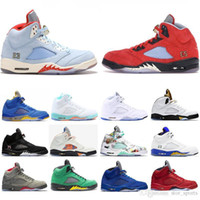 Wholesale retros 13 for sale - Group buy 2019 Trophy Room Retros University Red Ice Blue Basketball Shoes Mens s Laney Red Suede White Cement Designer Sport Sneaker us7