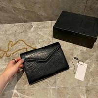 sacos de jacaré de ouro venda por atacado-Designer de bolsa de luxo bolsa de Jacaré padrão mulheres designer de sacos de ombro cinta cadeia de ouro crossbody sacos de grife