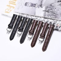 Wholesale watch bracelet size resale online - iStrap Genuine Leather Watchband Butterfly Buckle Bands Croco Grain Bracelet Watch sized in mm