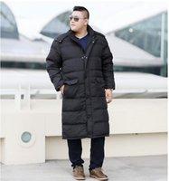 Wholesale custom made winter hats resale online - Plus Size Men s Down Coat Winter Long Down Jacket Coat For Men Hooded Winter Thick WinterJacket Custom Made