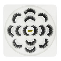 ingrosso ciglia finte più lunghe-Più nuovo 7 Pairs 3D Ciglia Fatto A Mano Naturale Lungo Faux Visone Ciglia di Alta Qualità Ciglia Finte Estensioni Maquiagem Donne Strumento di Trucco