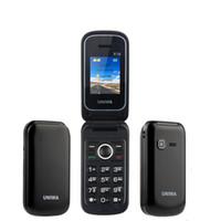 Wholesale big keyboard phones resale online - Mobile Phone GSM Senior Big Push Button Flip Phone Dual Sim FM Radio Keyboard Uniwa X18 Cellphone