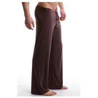 Wholesale men yoga pants sexy resale online - Home trousers soft silky sexy men s yoga trousers high quality sport fitness yoga pants breathable men sport leggings