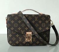 moda cross corpo mulheres bolsa venda por atacado-Marca bolsa de Ombro Pu couro Moda cadeia saco Cross body Pure color feminino bolsa de ombro bolsa de 94336