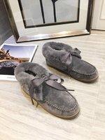 botas altas negras al por mayor-botas de nuevo WGG las mujeres del cortocircuito de la rodilla Australia Tall nieve del invierno botas de diseño Bailey arco del tobillo de Bowtie Negro Gris para mujer de castaño rojo bmh19100705