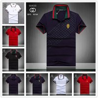 Wholesale crocodile clothes for sale - hot sale new Luxury Italy Tee Men s T Shirts Designer Polo Shirts High Street Embroidery crocodile Printing Clothing Mens Brand Polo Shirt