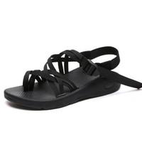 rahat düz bayanlar sandalet toptan satış-Yaz yeni plaj ayak halat düğüm düz çevirme terlik terlik kadın rahat düz sandalet ve terlik bayanlar çapraz kayış sandalet