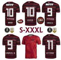 numaraları futbol isimlendirir toptan satış-Üst katmanlı 2019 2020 S-3XL CR flamengo evden futbol formaları özel ad numarası GUERRERO 9 DIEGO 10 futbol gömlekleri fotbul