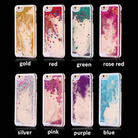 iphone sparkle cor-de-rosa venda por atacado-De glitter Phone Case areia movediça Para Samsung Galaxy Nota 10 para meninas faísca do rosa líquido Cachoeira caso claro de protecção para Samsung S9