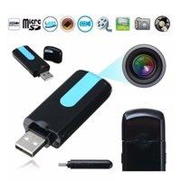 u8 camera usb venda por atacado-720x480 30FPS Mini USB DISCO DVR Camera U8 Câmera de Detecção de Movimento Portátil U disk Filmadora digital Video Audio Recorder