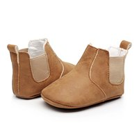 säuglingsbaby-mädchenstiefel großhandel-Baby Mädchen Jungen Schuhe Säuglingskleinkind Turnschuhe Erste Wanderer Kinder rutschfeste Neugeborene Schuhe Stiefel PU Leder Prewalkers Mokassins