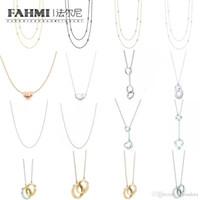 regalos entrelazados al por mayor-FAHMI 100% 925 1: 1 joyería original Círculo clásico auténtico regalo que entrelaza boda exquisito collar de la mujer 11