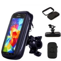 водонепроницаемый держатель телефона для велосипеда оптовых-Бесплатная Доставка Водонепроницаемый Мото Велосипед Крепление Телефона Держатель Телефона Чехол Мобильный GPS Поддержка Для iPhone 6 6 S для Samsung Galaxy S3 S4