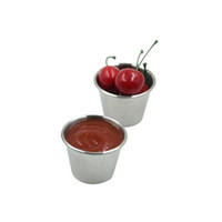 Wholesale tomato sauce resale online - Stainless Steel Sauce Cups Potato Chips Tomato Paste Cup Restaurant Salad Sauce Dipping Bowls