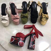 offene zehe sandalen dicke ferse großhandel-2019 Sommermode High Heel Sandalen Damen Plattform Open Toe Thick Heels Knöchelriemen Gold Schuhe