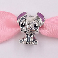 Wholesale beads fit jewelry resale online - Authentic Sterling Silver Beads Disnny Lilo Stitch Charm Charms Fits European Pandora Style Jewelry Bracelets Necklace C01