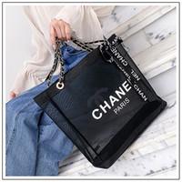 ingrosso borse nere totes-borse a tracolla della catena della maglia trasparente delle donne borsa casuale della stampa di marca della stampa del progettista Borse nere di colore MMA1809