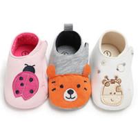 ingrosso scarpe da ginnastica sveglie della neonata-Cute Cartoon Baby Girl Boy Kids Soft Sole presepe Sneakers Scarpe in cotone antiscivolo Baby Casual 0-18M