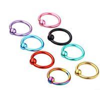 Wholesale eyebrows lip piercing for sale - Group buy 8PC Steel Captive Hoop Bead Rings Lip Eyebrow Nose Nipple Labret Piercings Ear Septum Tragus Helix Piercing Body Jewelry