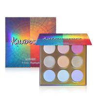 Wholesale rainbow makeup palette resale online - UCANBE Makeup High shine Glitter Highlighter Palette Color Shimmer Brilliant Rainbow Highligh Powder Face Illuminador Glow Kit