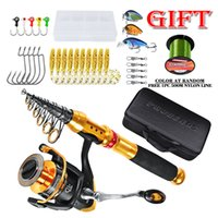 Wholesale full lures for sale - Group buy Fishing Rod1 m Reel Combo Full Kit Fishing Rod Gear Spinning Reel Line Lures Hooks with Bag for vara de pesca
