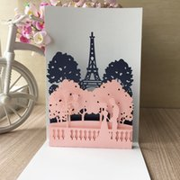 Wholesale used wedding dresses for sale - Group buy 3D Unique Wedding Invitation Card Palace Pattern Using Engagements Grand Events Birthday Party Fancy Dress Party Invitation