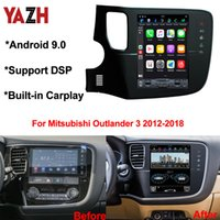 outlander radio bluetooth achat en gros de-Android 9.0 Navigation voiture DVD GPS pour Mitsubishi Outlander 3 2012-2018 Voiture Head Unit Auto Voice Control AC Radio Bluetooth 5.0