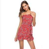Wholesale womens clubbing clothing for sale - Group buy Sexy Summer Dresses For Womens Casual Sleeveless Evening Party Beach Dress Sling Irregular Mini Dress Womens Clothing Colors S XL Size