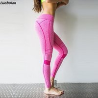 136577aa8dff0 New Sexy Training Women's Sports Yoga Pants Leggings Elastic Gym Fitness  Workout Running Tights Compression Trousers C19041701
