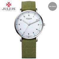 Wholesale geneva watches for sale - Group buy JULIUS Fashion Sports Men s Wrist Watches NATO Nylon Watchband Top Luxury Brand Male Geneva Quartz Clock New Boy JA
