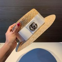29f665554 Summer Unisex Handmade Natural Wheat-Straw Women Sun Hat With white black Brim  Flat Top Hats Men Beach Solid Caps Sun Protection